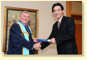 Certificate Presentation Ceremony with President of RCS Edinburgh, Dr. (Mr.) David Tolley