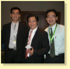 With Prof. Dr. Wang DY (left) and co-supervisor Dr. Leong JL (right)