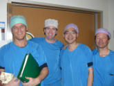 With ENT facial plastic surgeons Dr. Lohuis (left) and Dr.Smeele (right)